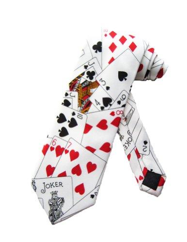 parquet-poker-spielkarten-blackjack-casino-krawatte-weiss-einheitsgrosse