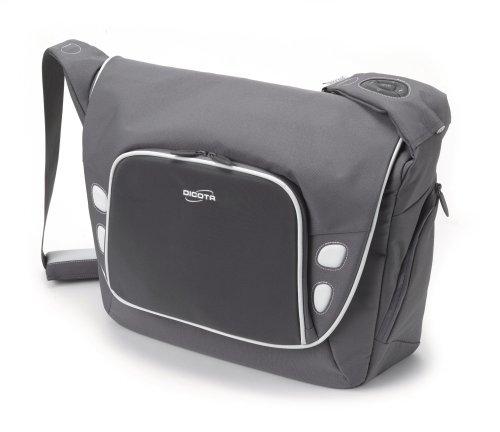 Take.Control Notebook-Messengerbag mit integrierte iPod-Steuerung für Notebooks bis 39,1 cm (15,4 Zoll) grau -