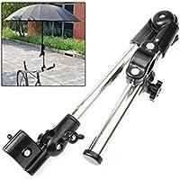 IMBS, supporto per ombrello, supporto per bicicletta da connettore per passeggino-bicicletta, sedia a rotelle, passeggini, colore: nero