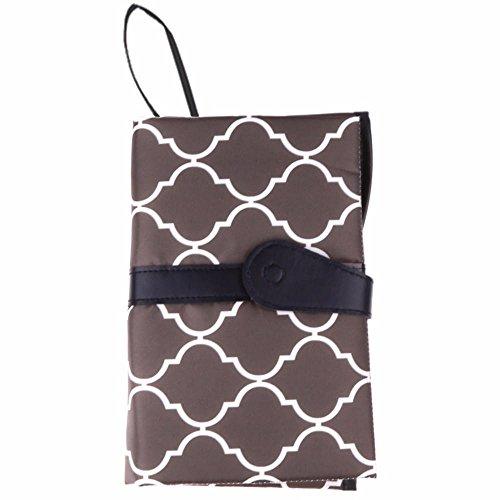 Segolike Portable Foldable Baby Kid Changing Mat Pad Cover Change Nappy Bag Travel Pocket - gray