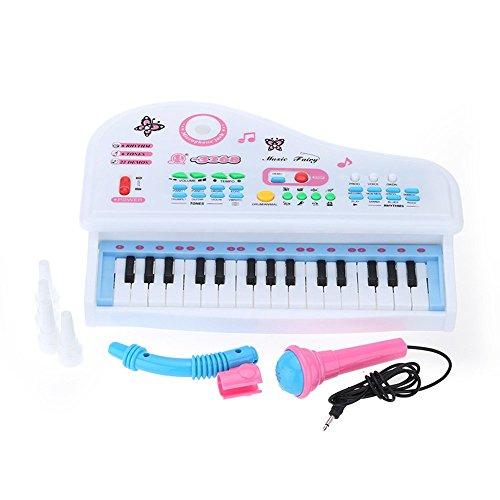 Andoer Mini-Keyboard für Kleinkinder und Anfänger, mit Mikrofon, 31 Tasten, Cartoon-Look MQ-3168