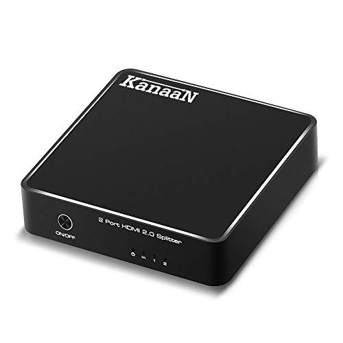 KanaaN HDMI 2.0 Splitter 1x2 | Unterstützt 4K 3D HDMI 2.0 HDCP 2.2 | Für DVD- oder Blu-ray-Player, Xbox, Playstation, TV, Monitore etc.