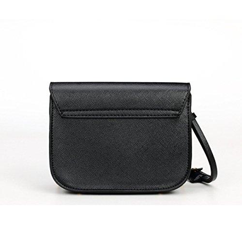 Damen Kleine Quadratische Tasche Schulter Messenger Schloßkette Paket,Beige Orange