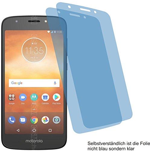 4ProTec 2X Crystal Clear klar Schutzfolie für Motorola Moto E5 Play Bildschirmschutzfolie Displayschutzfolie Schutzhülle Bildschirmschutz Bildschirmfolie Folie