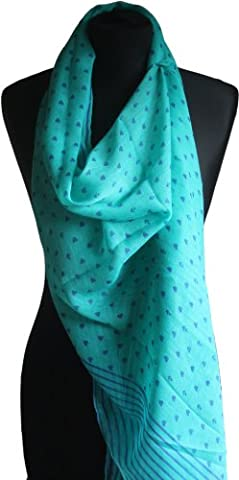 HG Ladies Large Lightweight Anchor & Heart Print Fashion Scarf