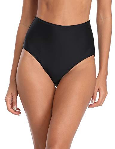 RELLECIGA Damen Bikini mit hoher Taille Hipster - schwarz - Medium - Größe Victoria Medium Secret