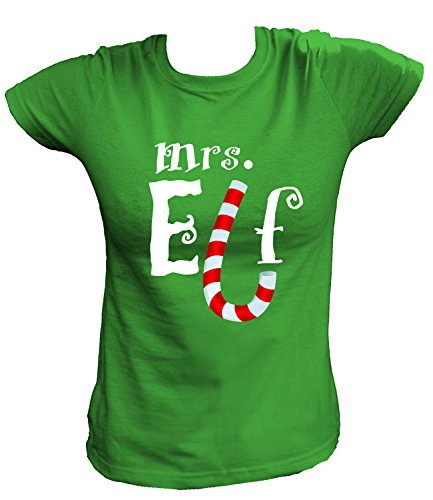Figur Kostüm Grinch - Artdiktat Damen T-Shirt - Mrs. Elf , Größe S, grün
