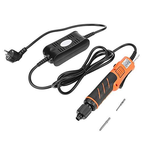 Cacciavite Elettrico con Codolo Cilindrico a Testa Cacciavite 4mm, Trapano Avvitatore Manuale a Velocità Variabile(EU Plug 220V)