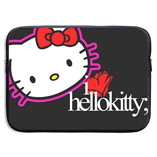 Laptop Schutzhülle Hello Kitty Schwarz Wasserdicht Stoßfest Tasche Schutzhülle Kompatibel 13-15 Zoll Notebook, 13 Zoll (Hello Luggage Rolling Kitty)