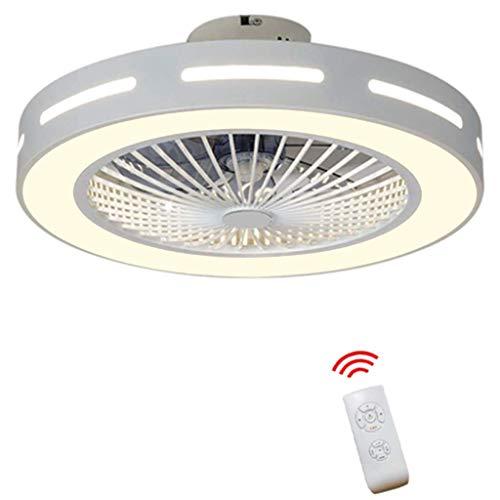 Luz moderna de ventilador de techo con control remoto e iluminación Ventilador ajustable Luz de techo...