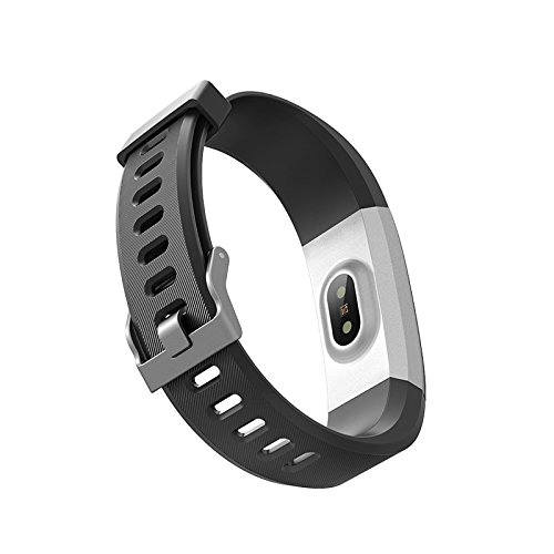 ZLLZ Smart Armband Herzfrequenz-Test wasserdicht Bluetooth Sport Armband Schritt Schlaf Überwachung, Fitness-Tracker tragbare Smart Armband Damen Herren Kinder-Black -