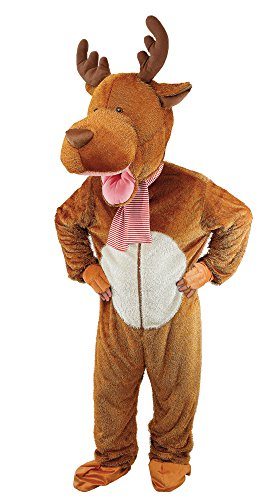 Tier-maskottchen-kostüm Kinder Für (Bristol Novelty CC001Rentier Big Head Kostüm, groß)