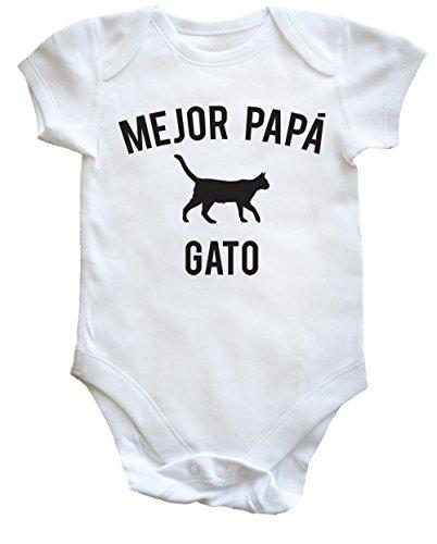 HippoWarehouse Mejor Papá Gato body bodys pijama niños niñas unisex