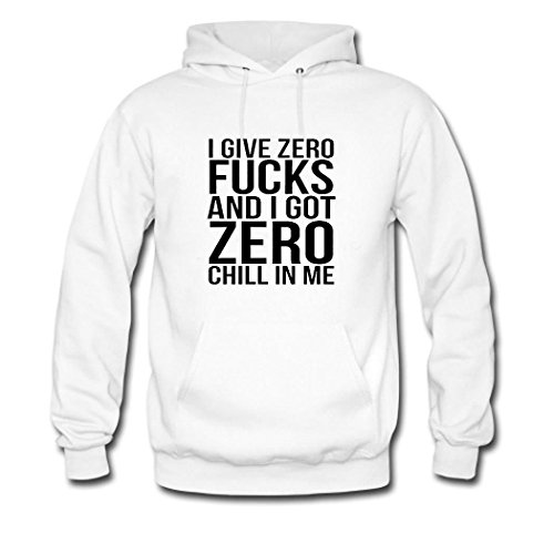 weileDIY I Give Zero Fucks and I Got Zero Chill in Me DIY Custom Classic Men Hoodie Sweatshirt