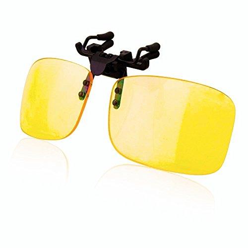 EFK UV Brillen Clip-on Schutzbrille, Blaufilterbrille Anti Blaulicht Eyewear for PC, Smartphone, Computer Lesebrillen- Gelbe Linsen Goggles