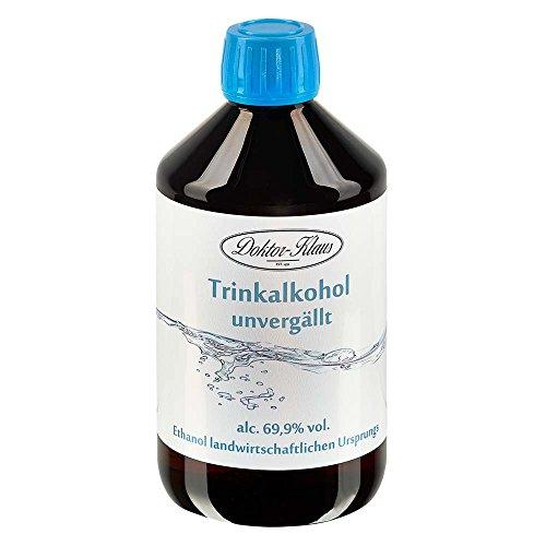 500ml Primasprit Trinkalkohol 69,9% vol. Alc. in brauner PET Flasche mit OV von Doktor Klaus