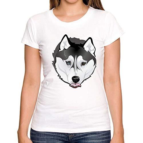ZCYTIM Kurzhülse T-Shirt des Sommers Neue Art und Weise niedliches T-Shirt des sibirischen Husky Entwurfs kühle Obert-stücke -