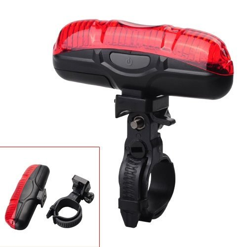 SHOPEE Bicycle Safety Light 5 LED Highlight Flash Red Tail Light Bicycle Tail Light Bicycle Flashlight with 2 aaa battery  available at amazon for Rs.185