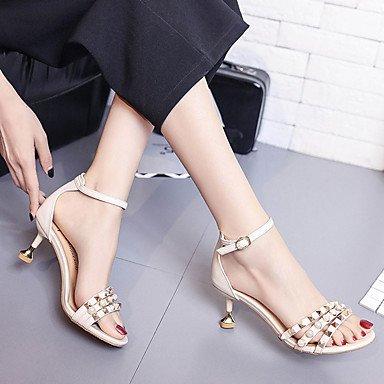 LvYuan Da donna Sandali Comoda PU (Poliuretano) Estate Casual Formale Footing Comoda Perle A stiletto Nero Beige Giallo 2,5 - 4,5 cm beige