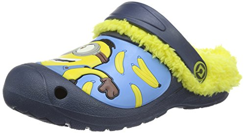 MINIONS Boys' Kids Sandals and Mules Clogs, Mehrfarbig (Navy/Yellow 112), 12.5 Child UK