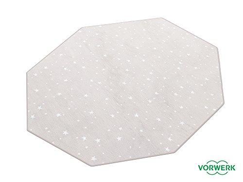 HEVO Vorwerk Bijou Stars grau Teppich | Kinderteppich | Spielteppich 200 cm Achteck Sonderedition