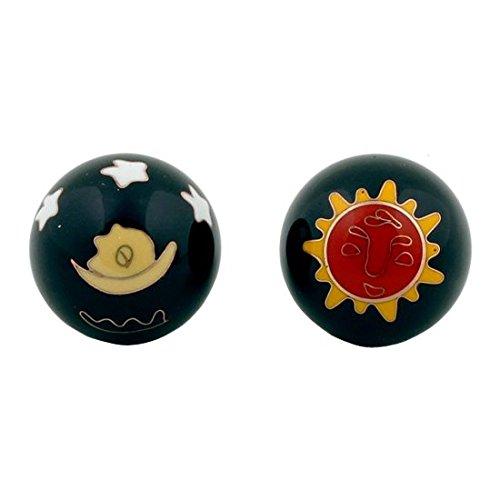 Qi Gong Kugeln 3,5cm mit Aufbewahrungsbox Verschiedene Varianten (Sonne&Mond)