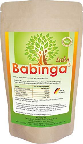 ERASVITAL Babinga® Presslinge 540 Stück = 381g Pollen Moringa Baobab Gerstengrassaft Bacillus Subtilis