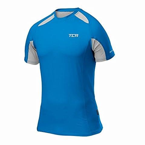 Thorogood Sports Men's Quick-Dry Short Sleeve Performance Training Top Blue Men's XX Large