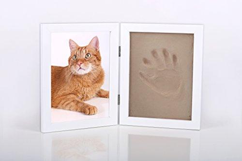 Bastelset Pfotenabdruck z.B. für Katze und Hunde Rahmen Ton gießen Gips Tier Tiere Gipsformen