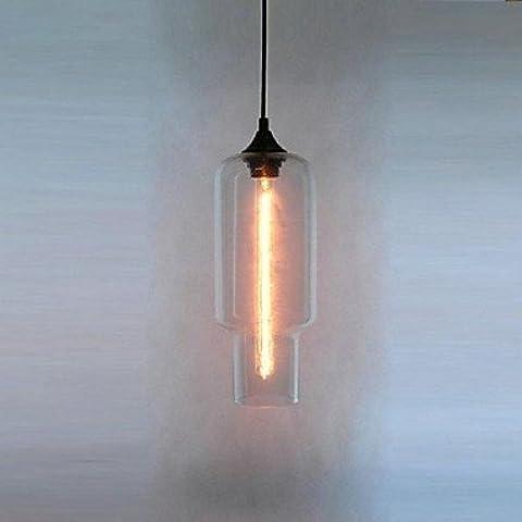 LYNDM-Miglior regalo di Natale, moderno in vetro luce pendente in bolla marrone Design ,