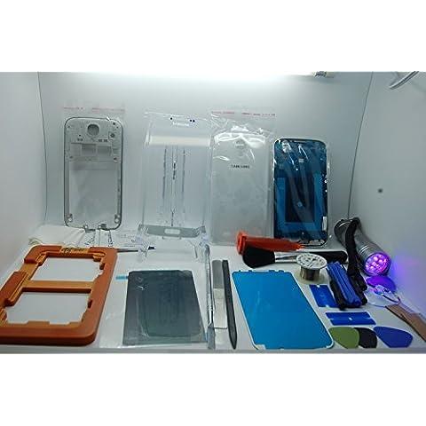 Samsung Galaxy S4 i9500, i9505 Bianco Kit Completamente Ristrutturazione, Riparazione, Tutto il