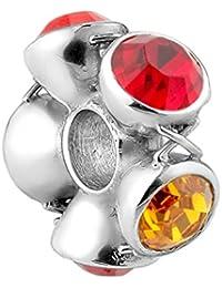 Nena Lina crystal bead con cristales de Swarovski elementos en plata de ley 925, también compatible con Pandora pulseras, 718045-005