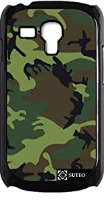 Coque pour Samsung Galaxy S3 mini - Camouflage Militaire Vert - ref 451
