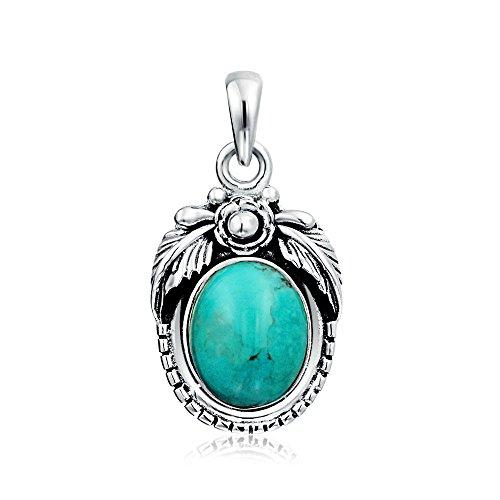 bling-jewelry-fleur-turquoise-pendentif-ovale-foliaire-925-silver-collier-pendentif-gravure-gratuite