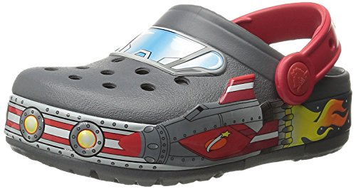Crocs Lights Galactic, Sabots Mixte Enfant Noir (Charcoal)