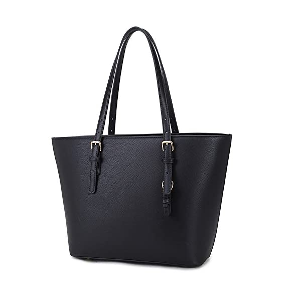 449fe49e0 LS Ladies Laptop Tote Bag Large Square Handbags with Adjustable ...