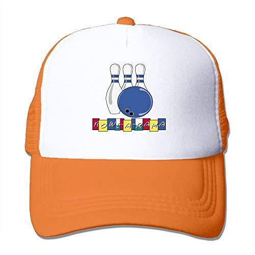 RAINNY Cute Bowling Trucker Hat Unisex Adult Baseball Mesh Cap Black -