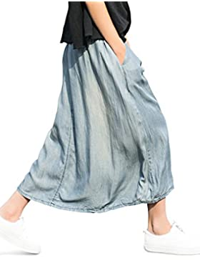 YOU.U 2017 BEST DEAL Verano Casual Denim falda larga (2 modelos!)