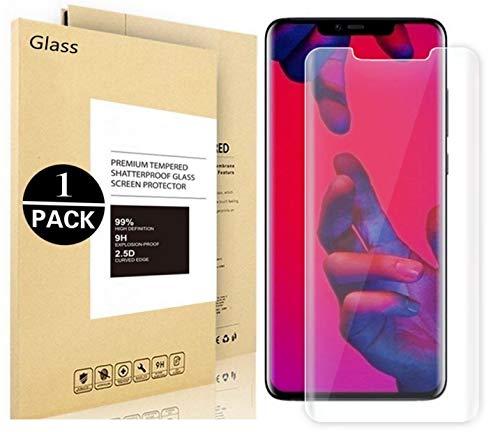 filmes Voigeer Protective Huawei Companheiro 20 PRO, [0,3mm, 2,5D] [Dureza 9H] [Instalação fácil] [HD Limpar] no protetor de tela de vidro temperado para Huawei Companheiro 20 PRO (1 Pack)
