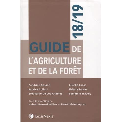 Guide de l'agriculture et de la forêt 18/19