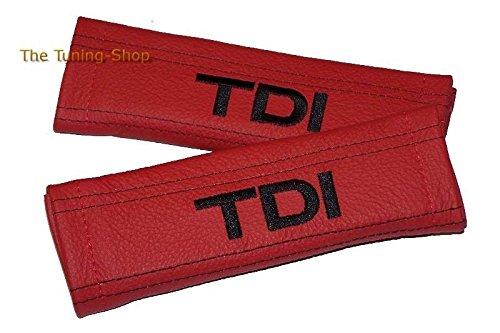 2x cintura cover imbottito spalla rosso cuoio nero TDI Edition (Mazda 6 Oem Sostituzione)