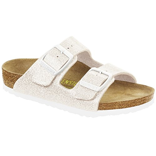 Birkenstock Unisex Kinder Arizona Sandalen, White (Magic Galaxy White), 33 EU