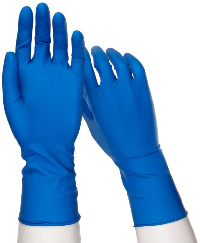 West Chester 2550posishield Untersuchungshandschuhe Grade Einweg Latex Handschuhe, puderfrei: Dunkelblau, 14Mil, Box mit 50Stück, L, blau, 50 - Chester Labs
