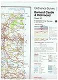 Ordnance Survey Landranger Map 92 Barnard Castle & Richmond, Teesdale (Flat Sheet)