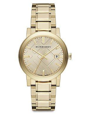 Burberry BU9033–Uhr, Edelstahl-Armband Gold (Burberry Damen Uhr)