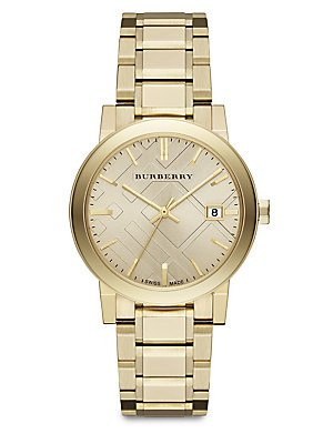 Burberry BU9033–Uhr, Edelstahl-Armband Gold