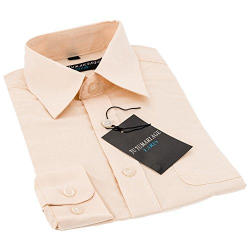 Hemden Jungen (Gr. 92-176) festliche Jungen Hemden in aktuellen 4 Farben! (Gr. (16) 176, hellgelb)