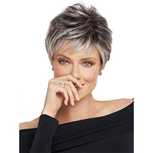 wig JUN Europäischen amerikanischen Perücken Damen Farbverlauf Kurze Glatte Haare Perücke (Mädchen-kleidung-speicher Amerikanische)