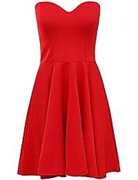 Trendy-Clothings Robe bodycon stretch à mancherons pour femme Uni
