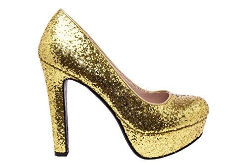 Andres Machado AM5051.Escarpins Soft et Plateforme.Pour Femmes.Petites Pointures 32/35.Grandes Pointures 42/45 glitteroro